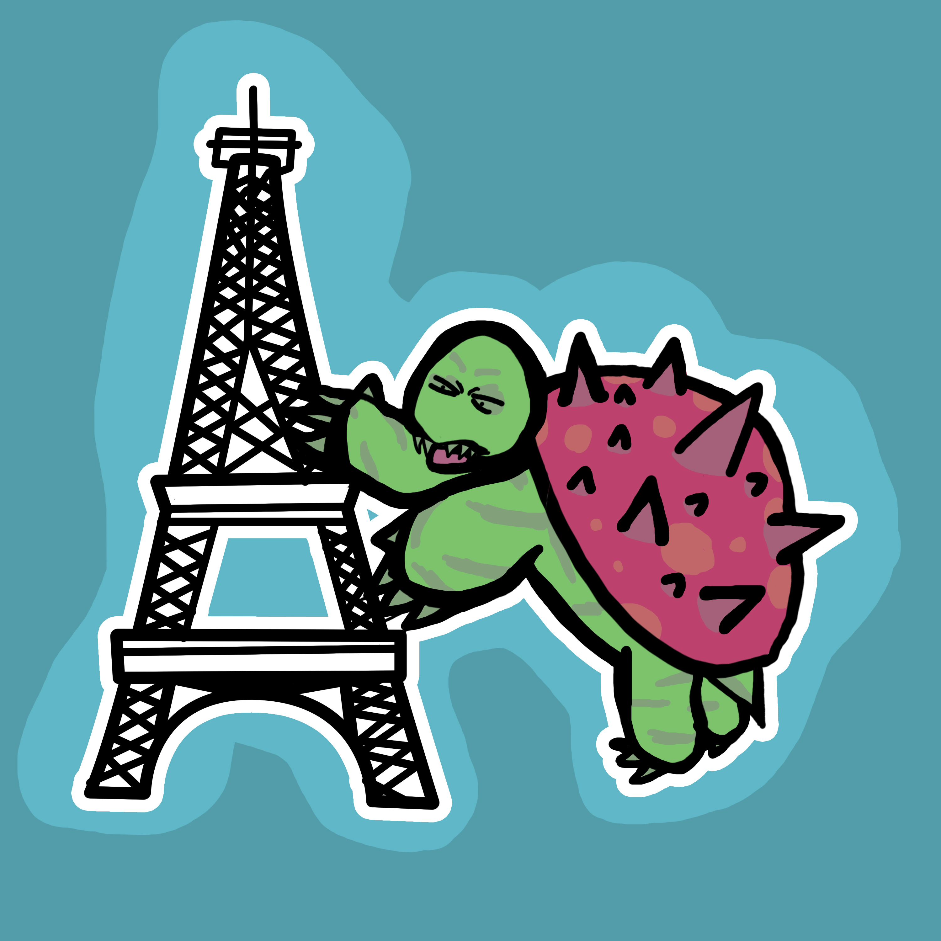 Turtle Vs Eiffel Tower by HLGR4G3 on Newgrounds