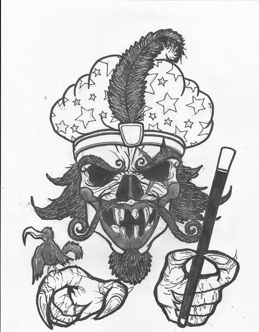 great milenko skull--tat desig