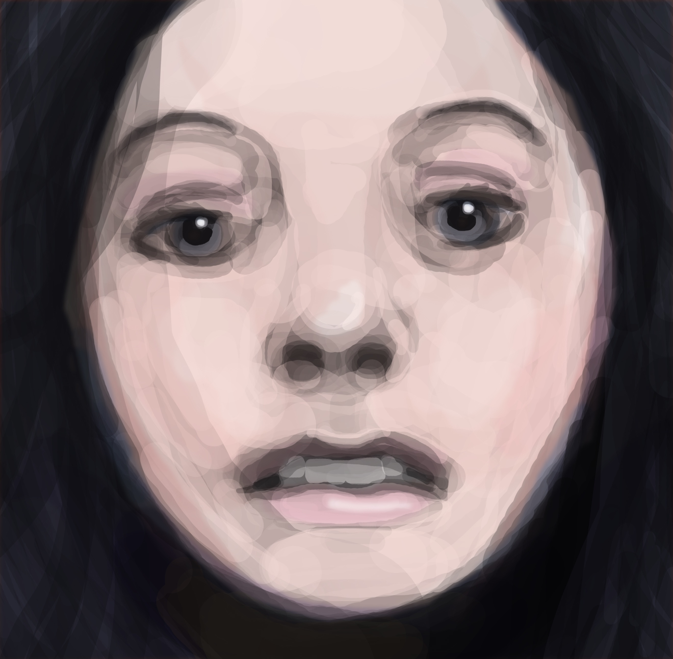 Raven Haired Woman