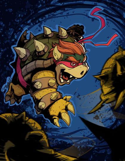 Teenage mutant ninja Bowser