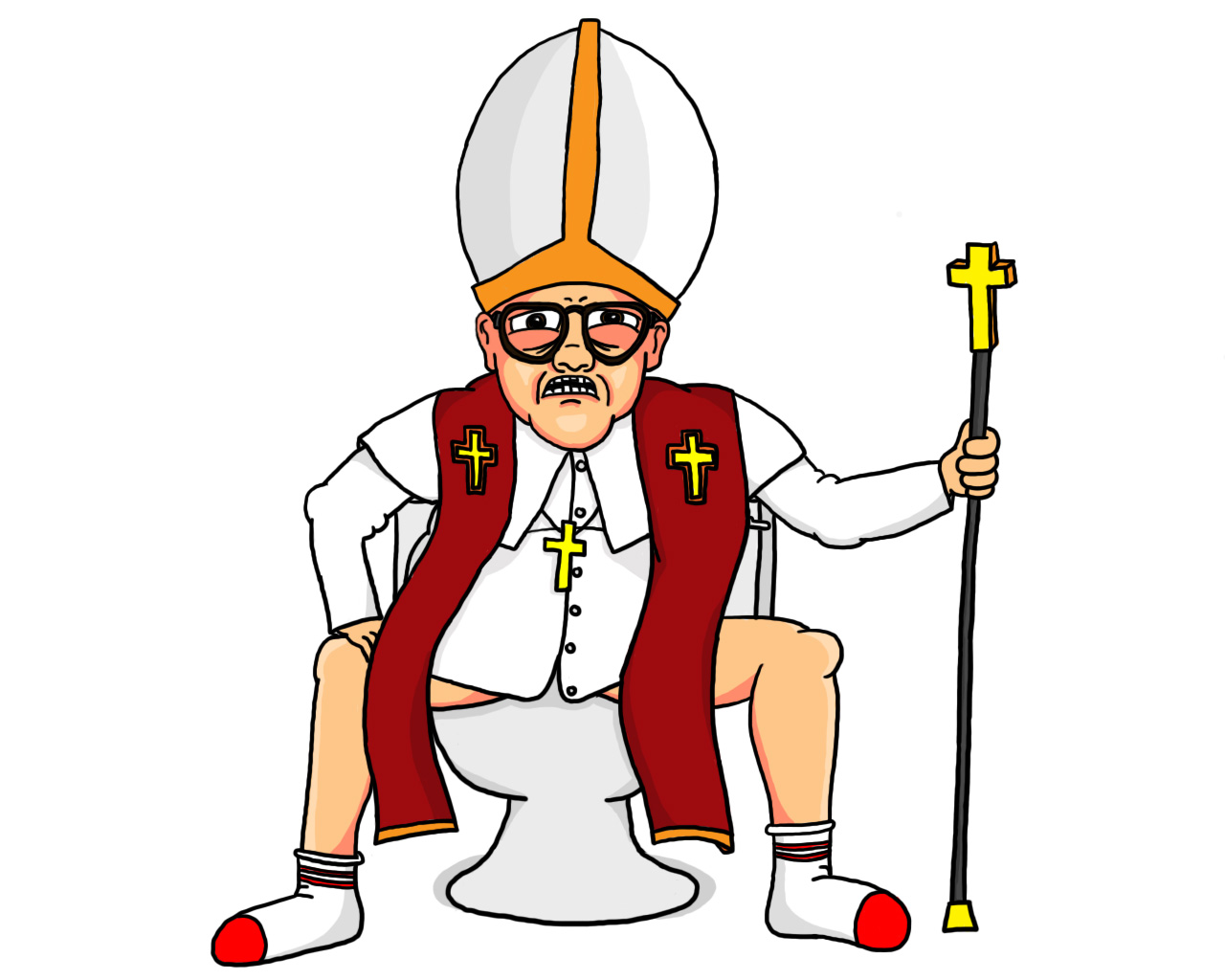 Pope Poopin...