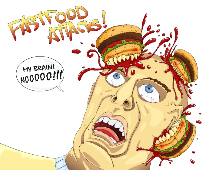 Fastfood attack!!!