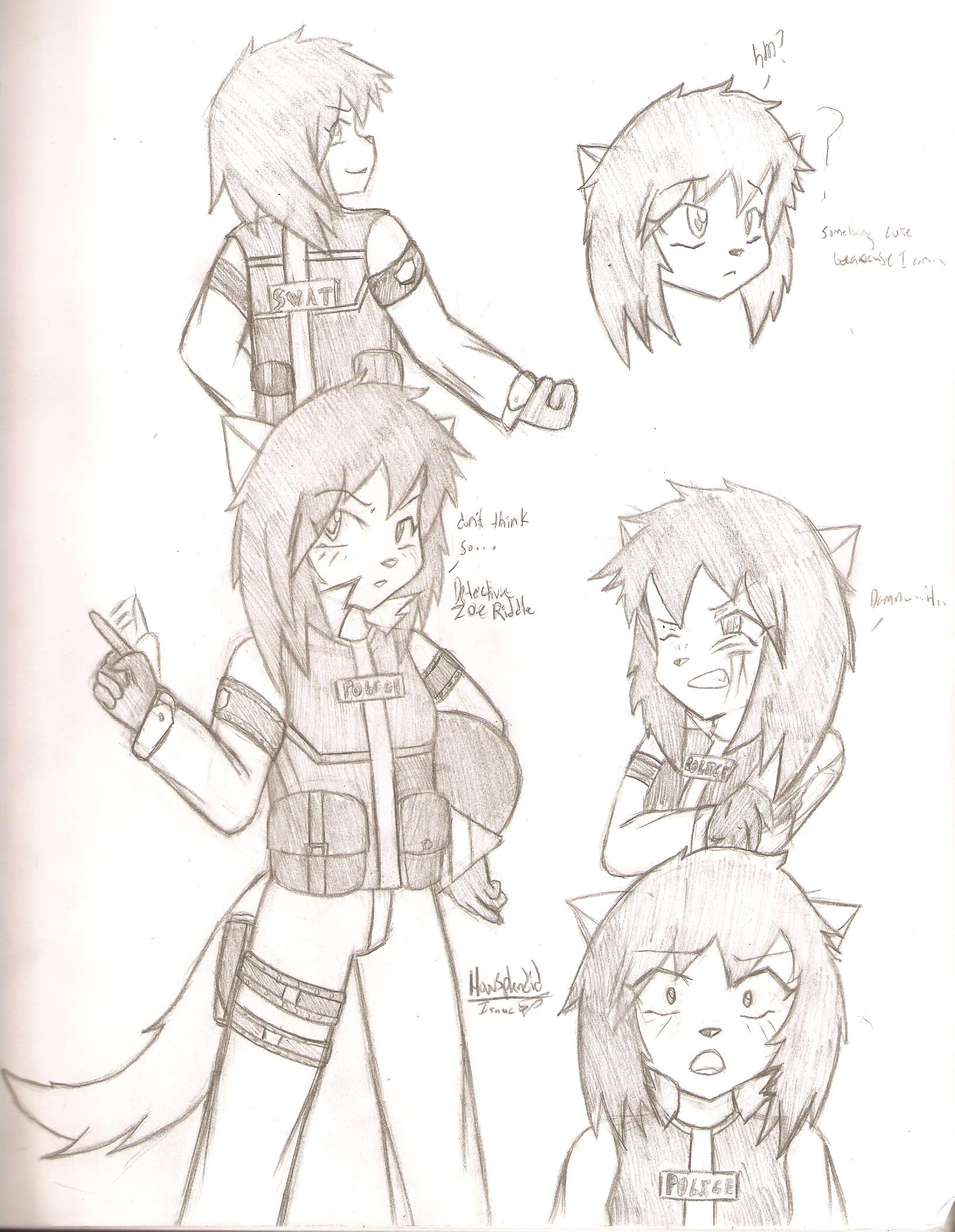 Character concept Zoe Riddle