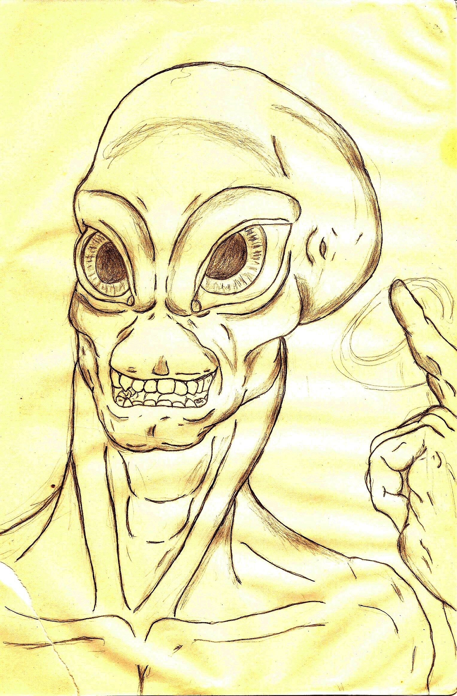 Alien dude musing about probes