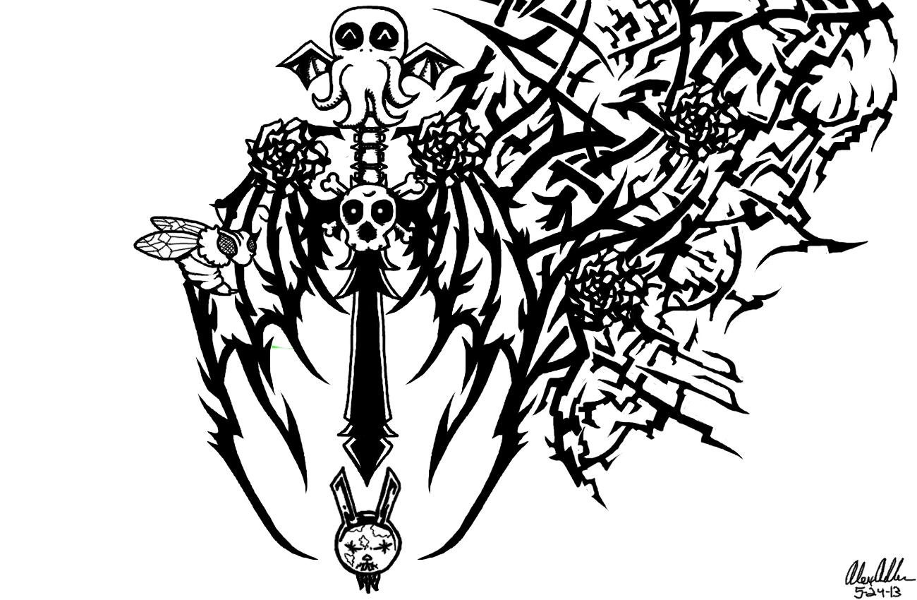 Crazy Tribal Tattoo
