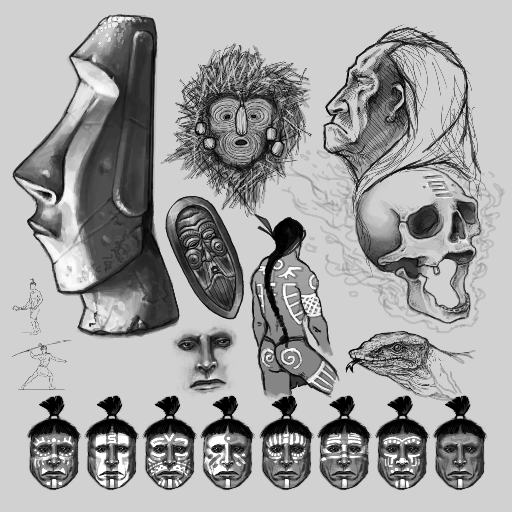 Tribal sketches