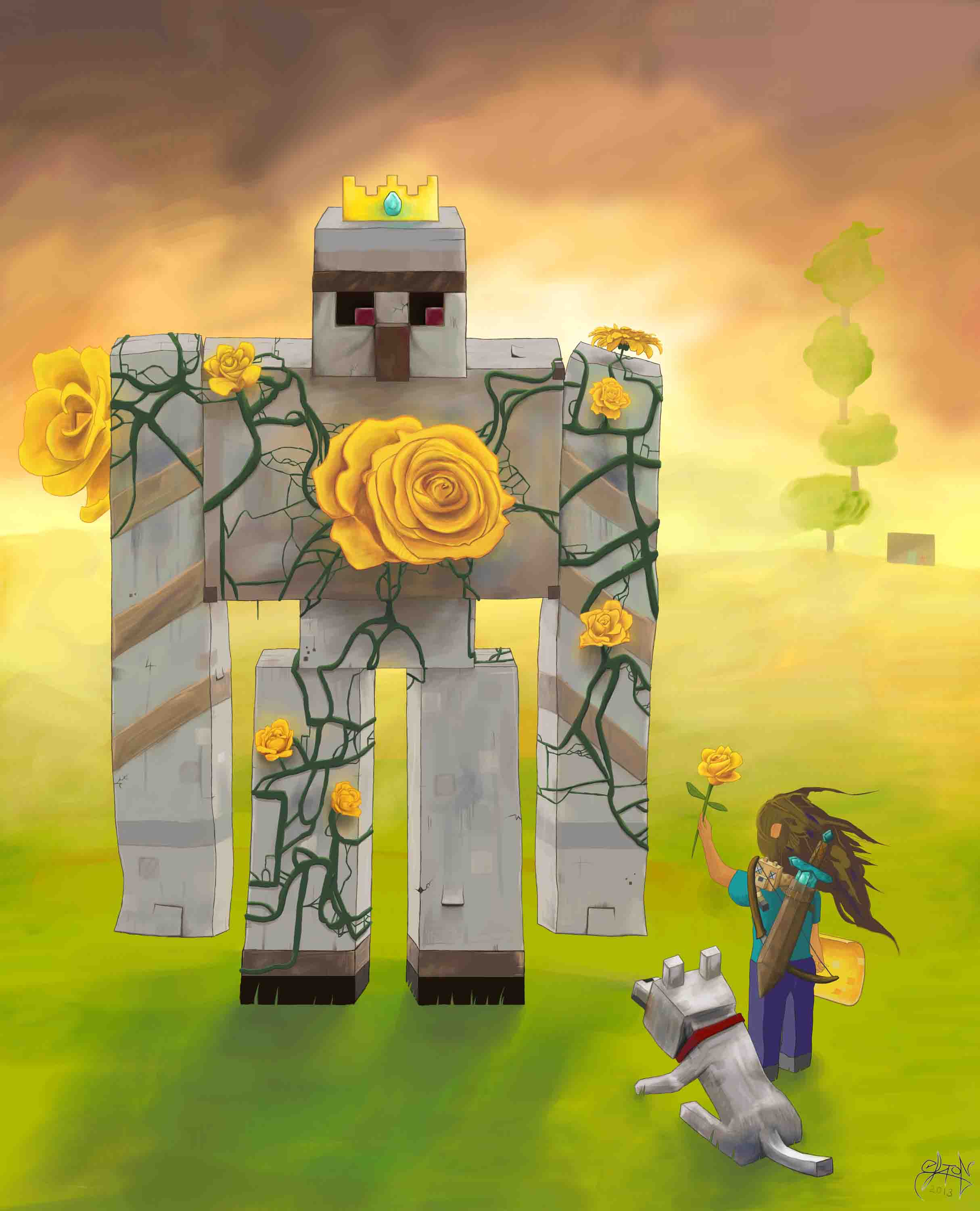 Minecraft: Taming the King