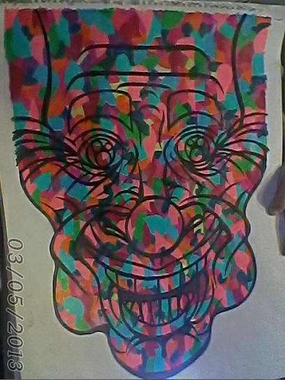 18x24-strange clown