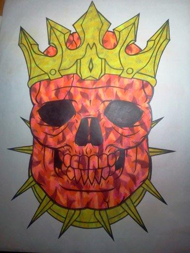 18x24 colored prince skull