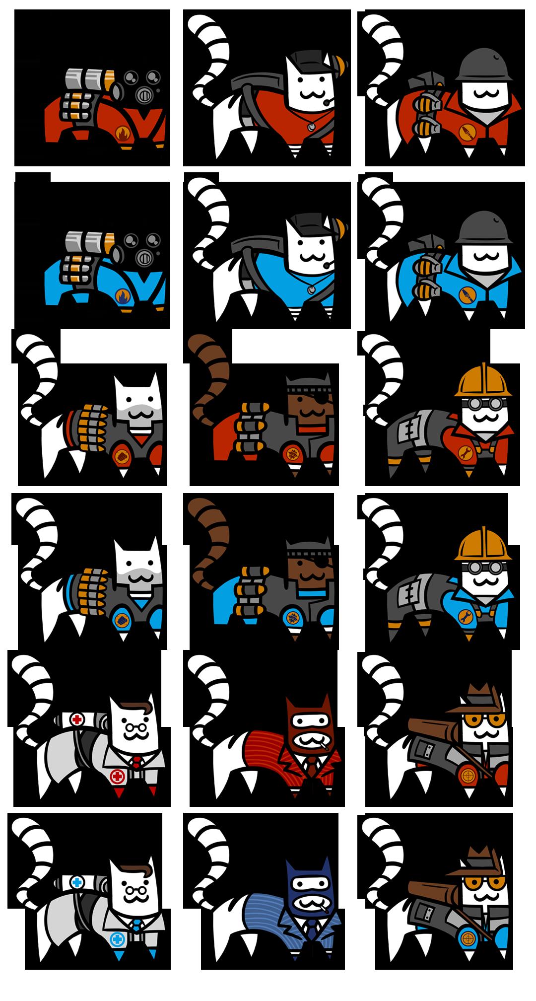 TF2 CAT STICKERS SERIES 1