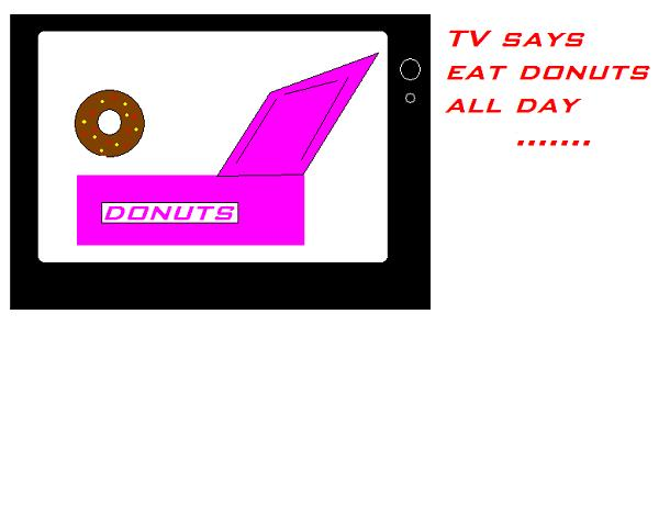 TV SAYS EAT DONUTS ALLLLL DAY