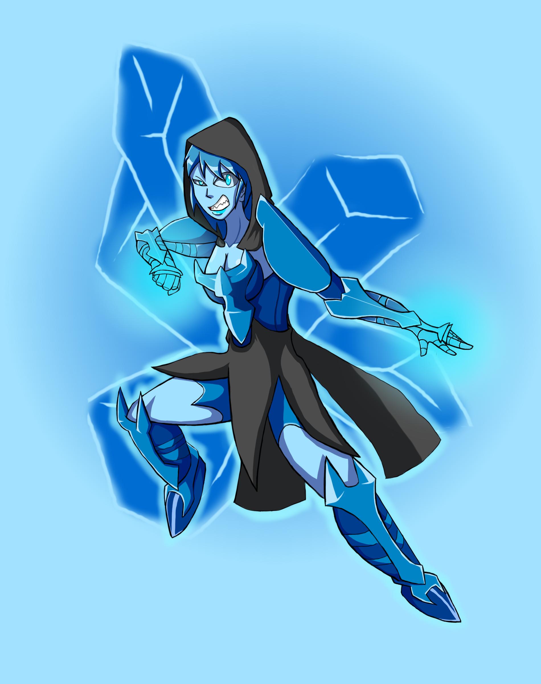 Icy demon warrior