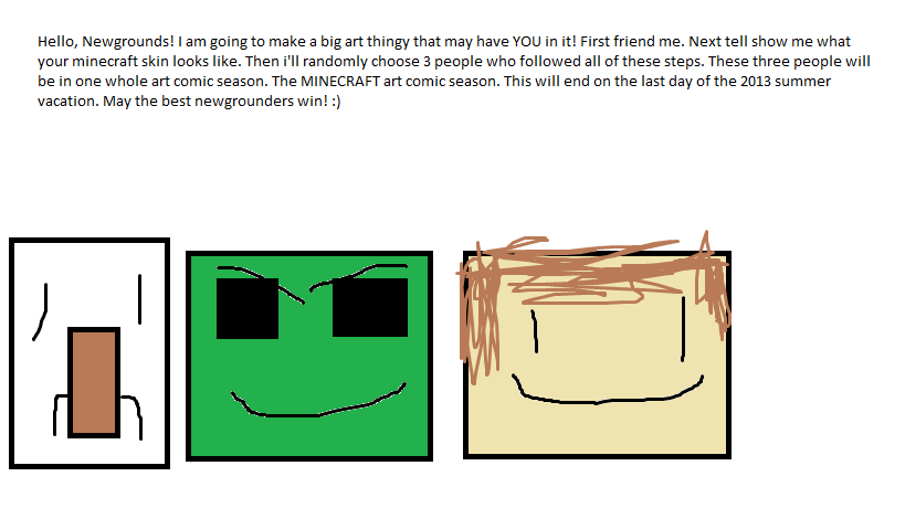 Minecraft comic contest!