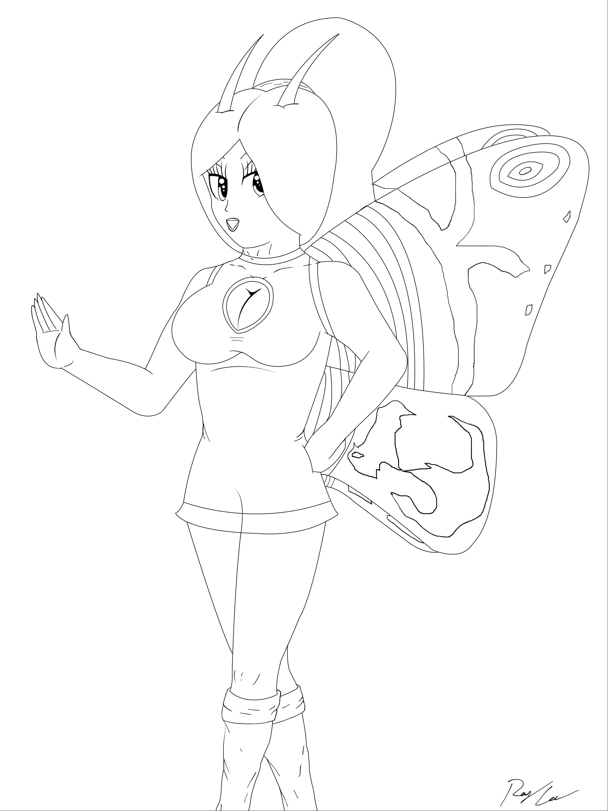 Mothra lineart