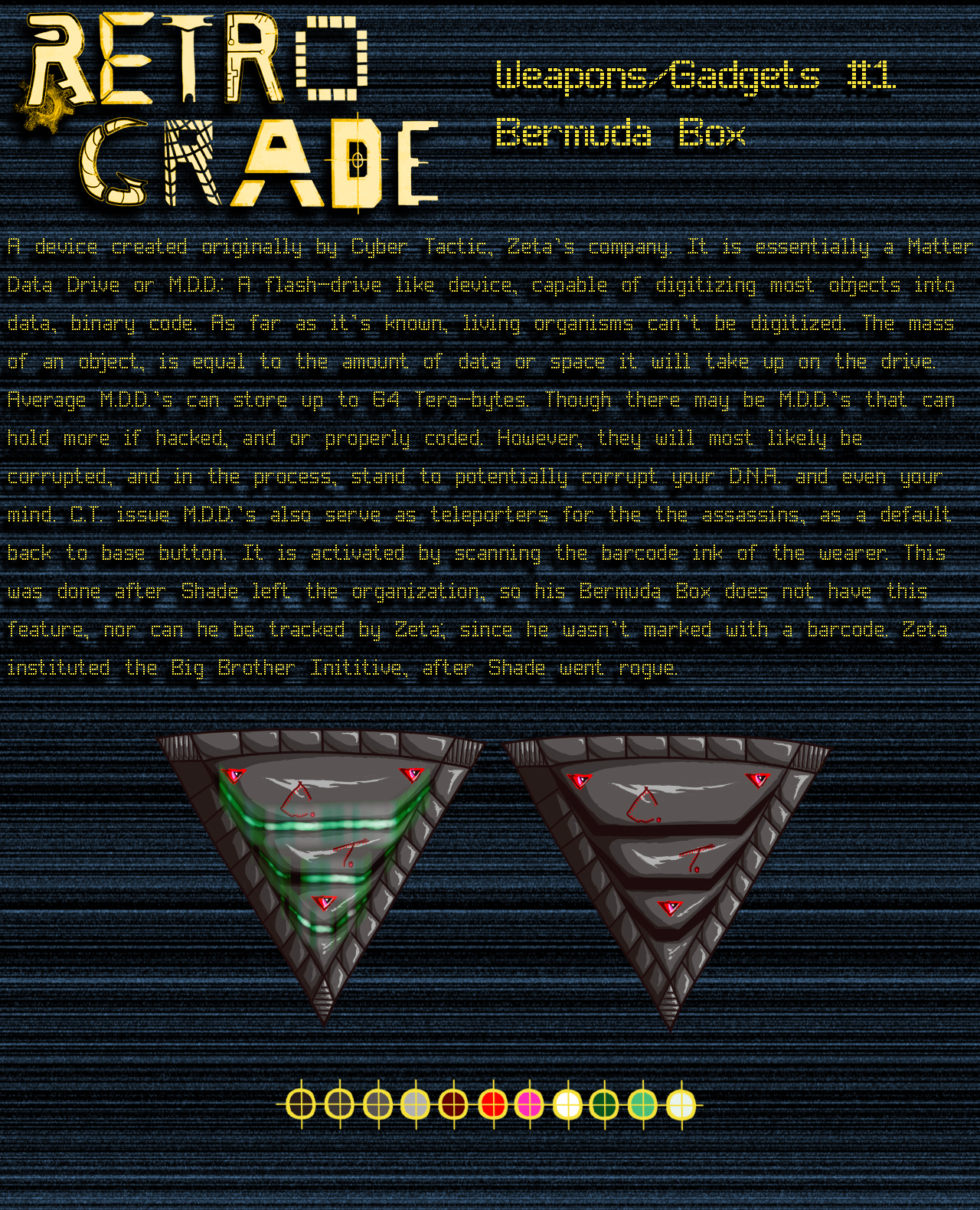 Retrograde Weapon/Gadgets: # 1