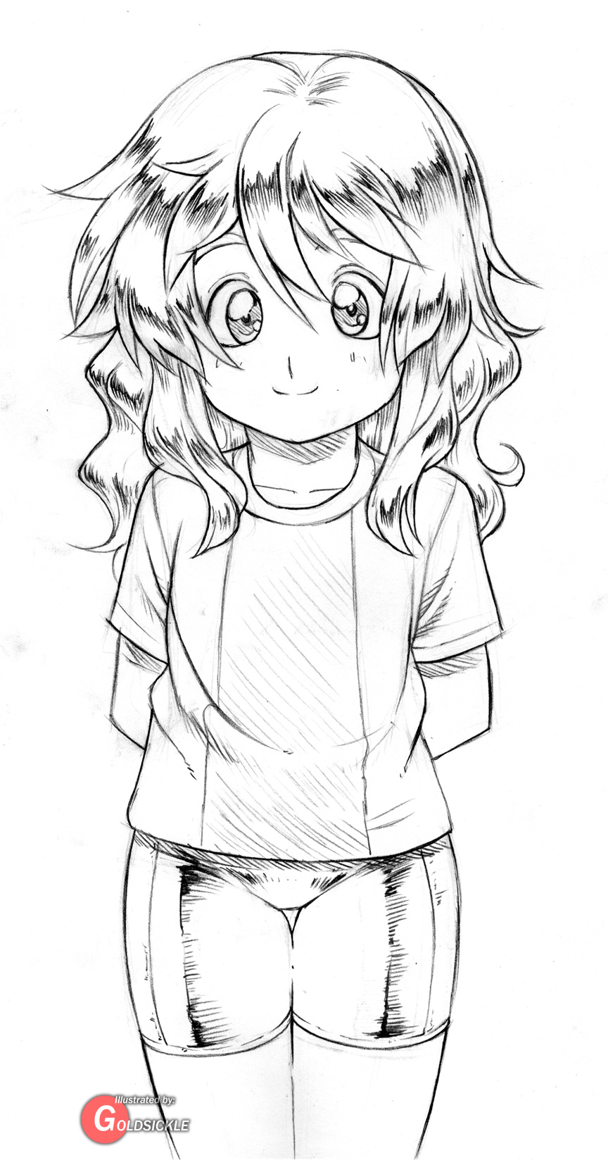 Wavy Haired Girl