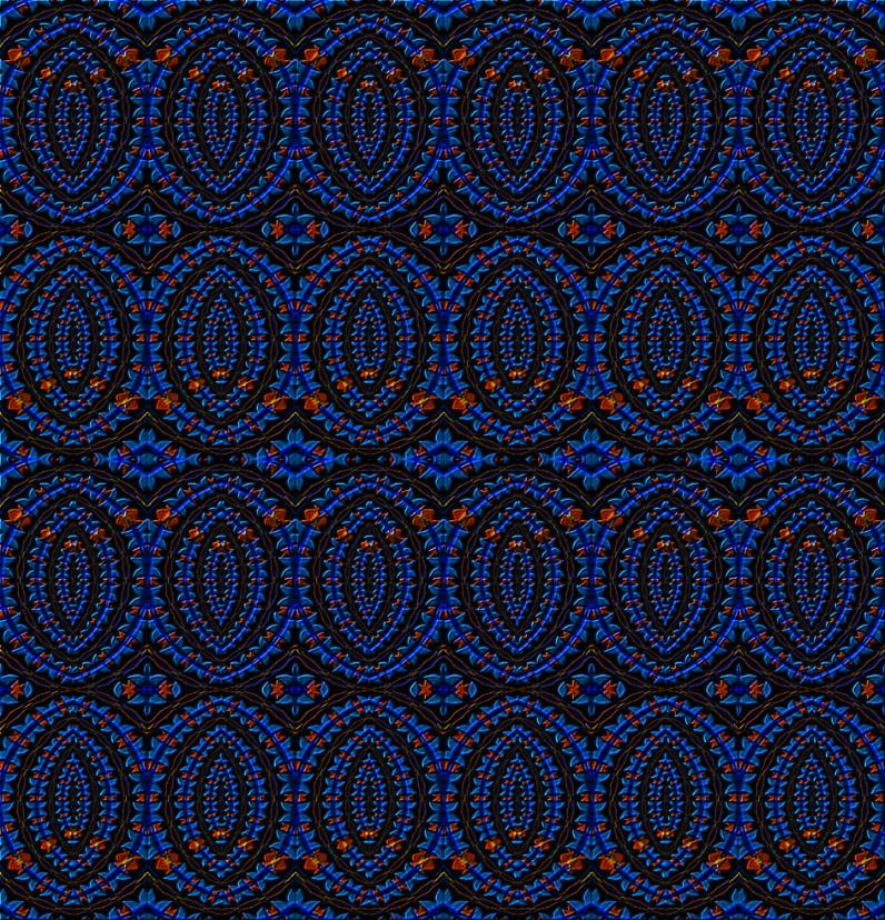 Mostly Blue Pattern