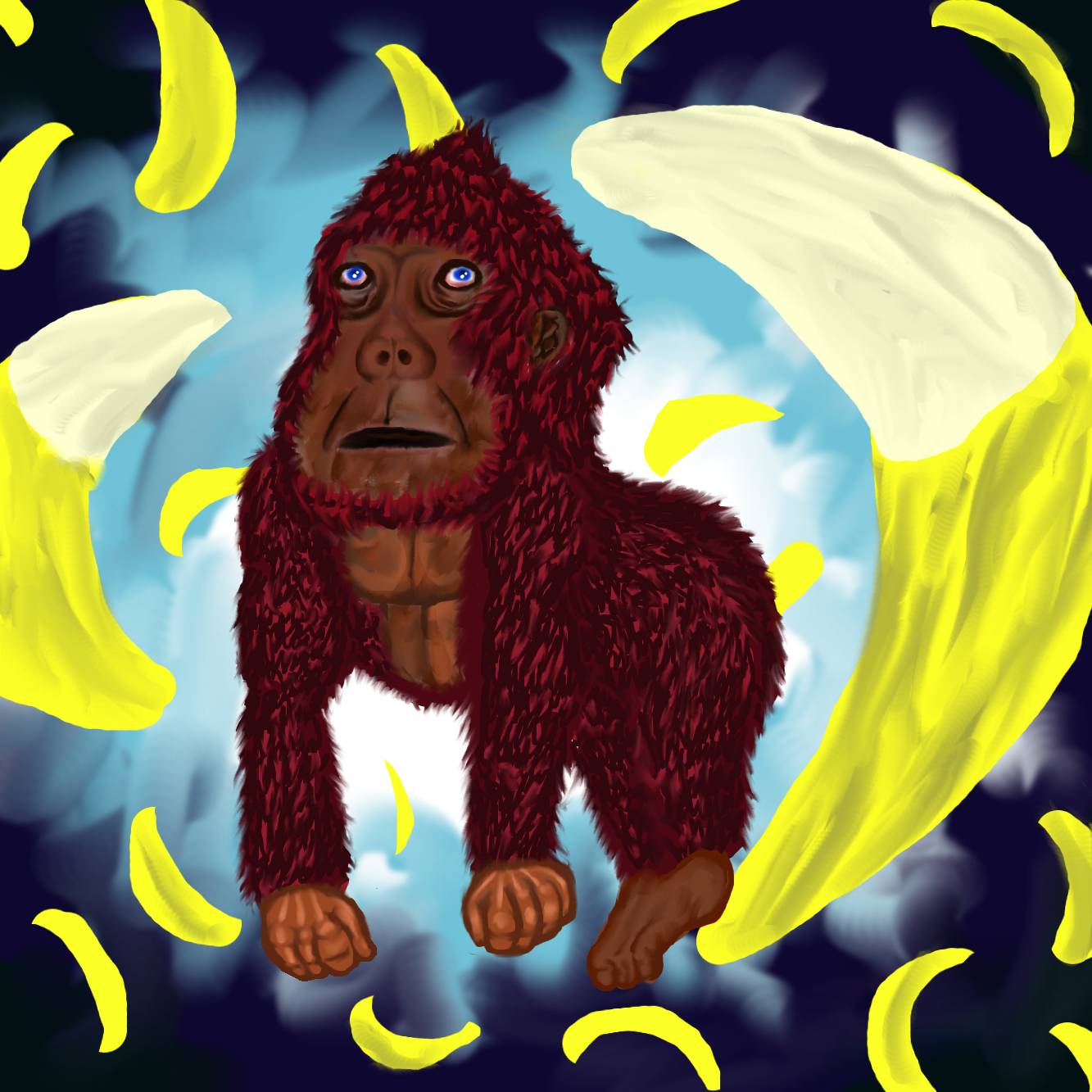 apehominid in banana dimension