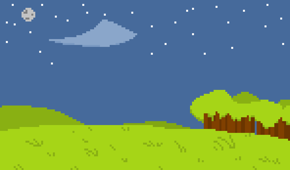 Pixel Landscape at night by Clyphe on Newgrounds