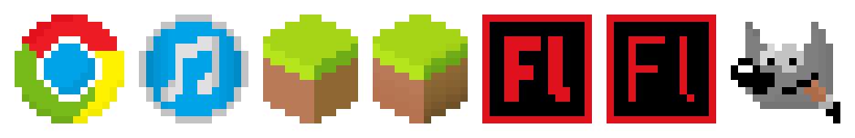 Pixel Program icons