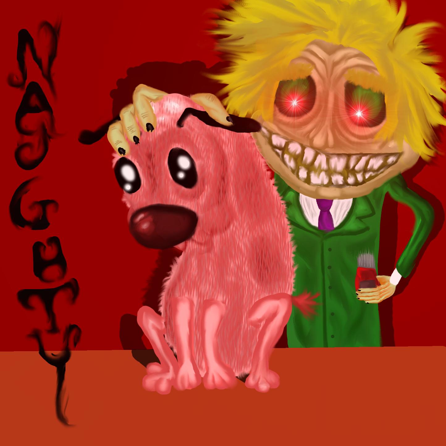 COURAGE THE DOG NAUGHTY