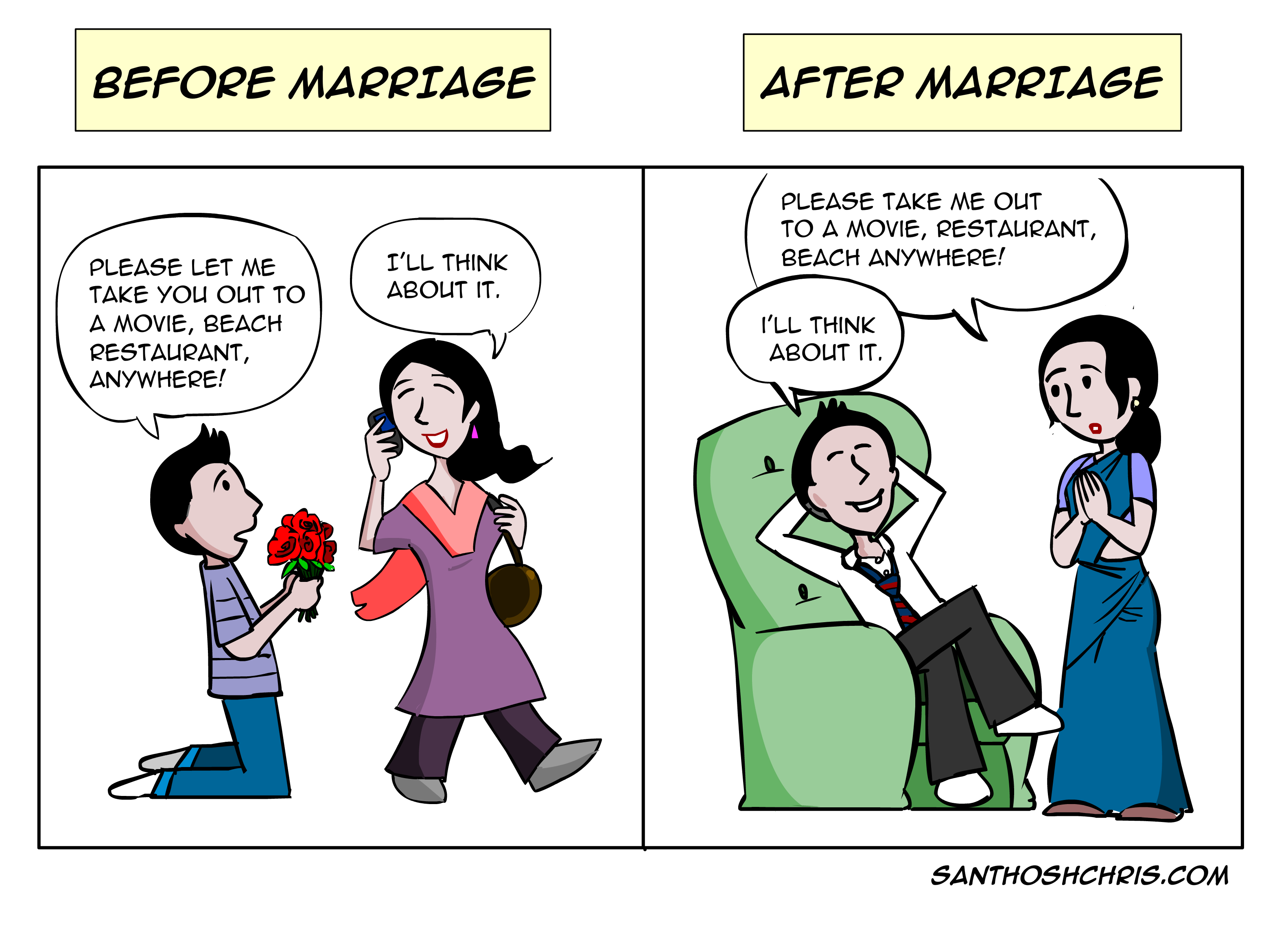 Marriage Before and After