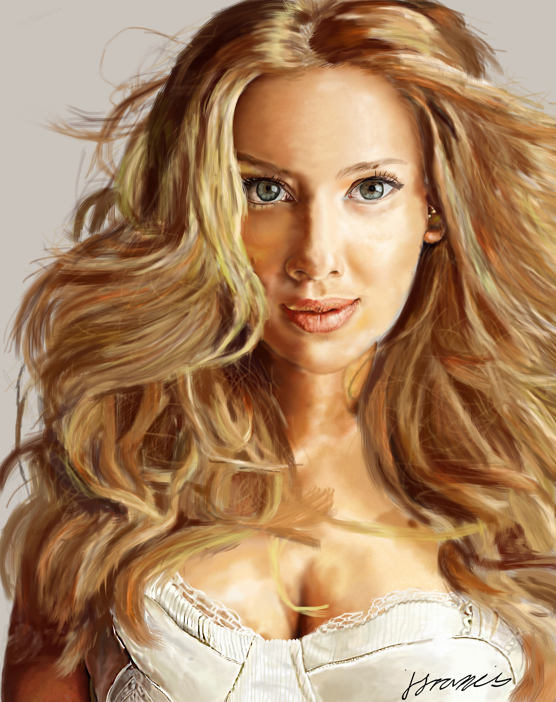 Scarlett Johason digital art