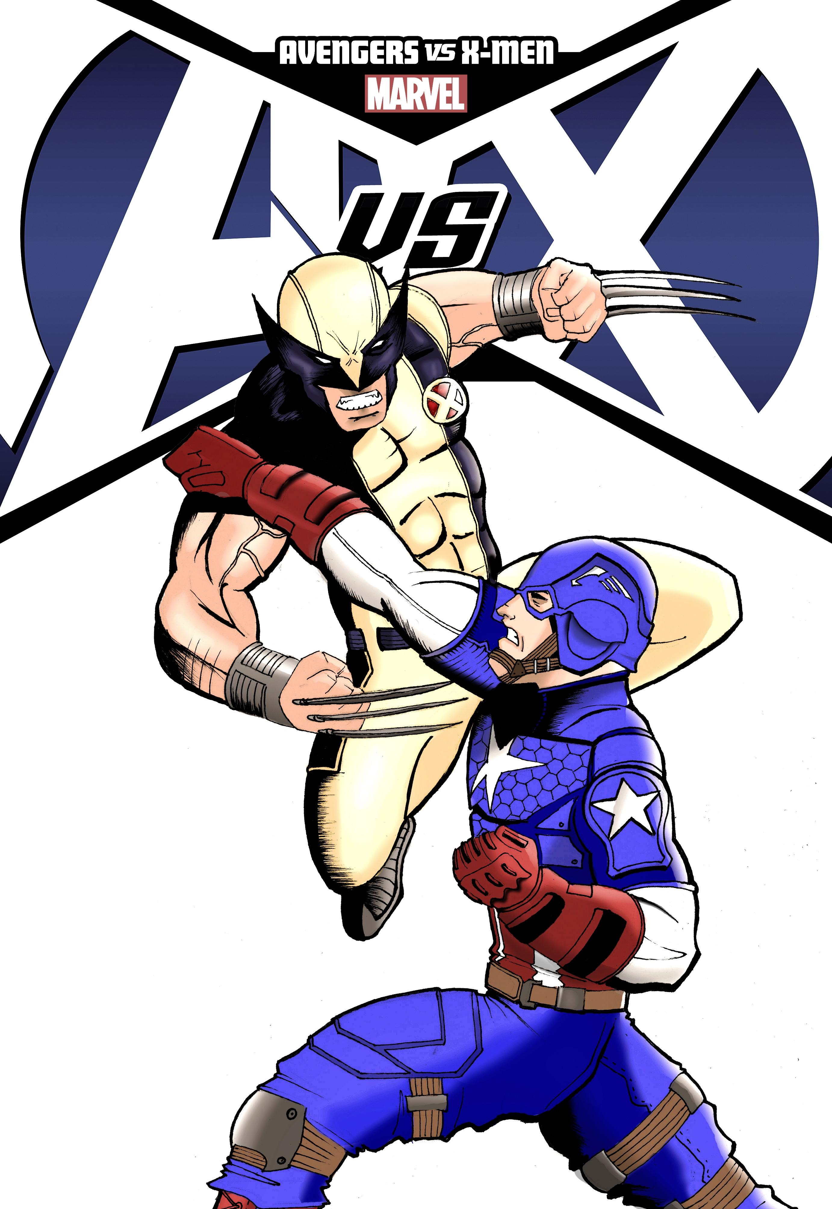 Cap Vs Wolverine