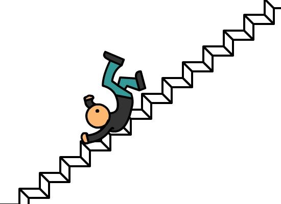 Falling Down Stairs.