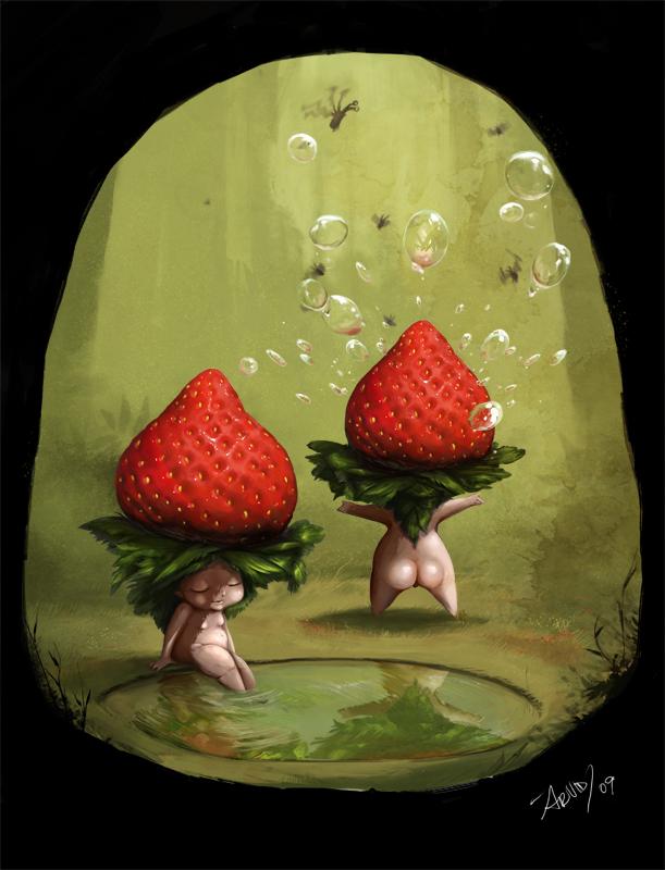 strawberry butt cheeks