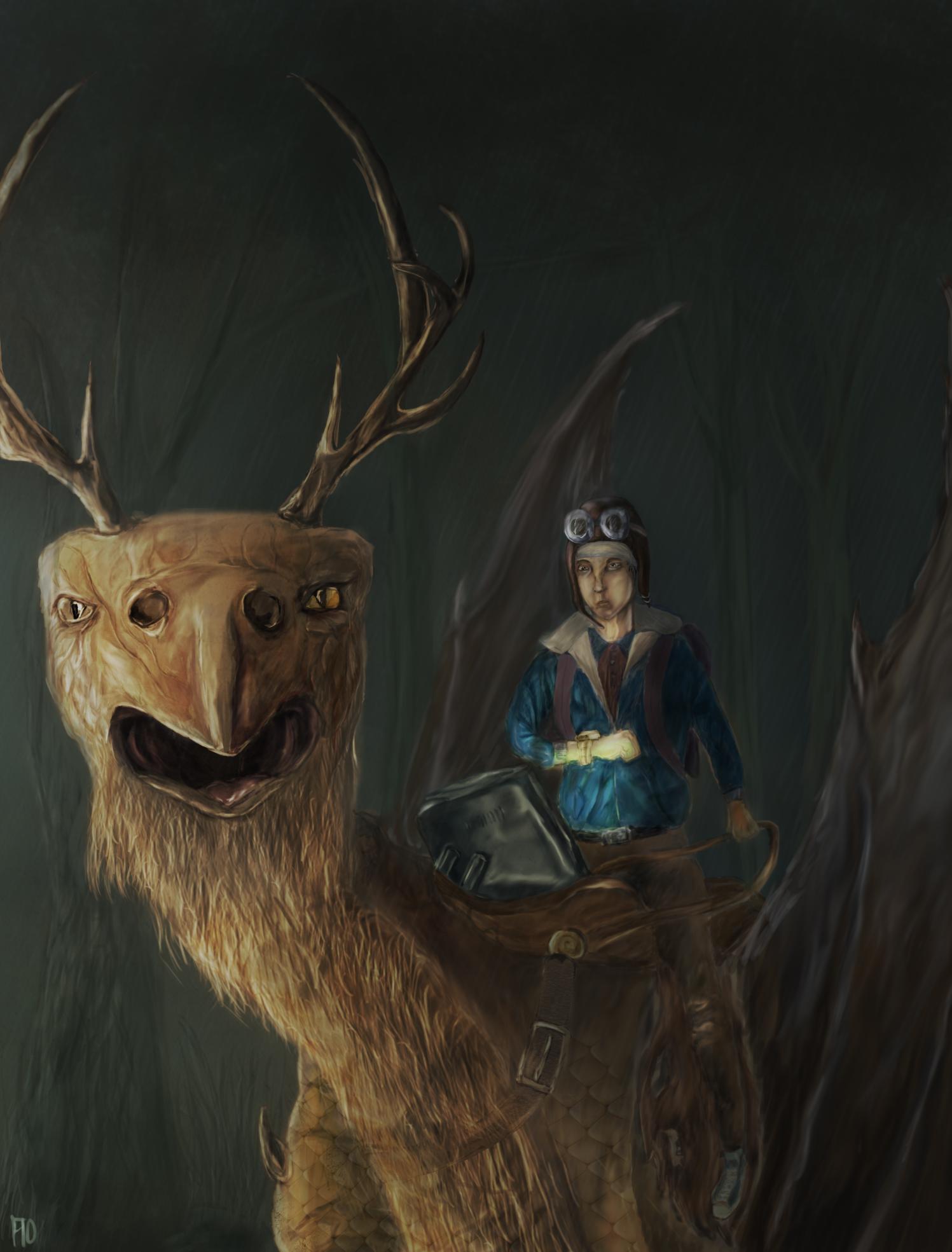 deerbirddragon and a guy