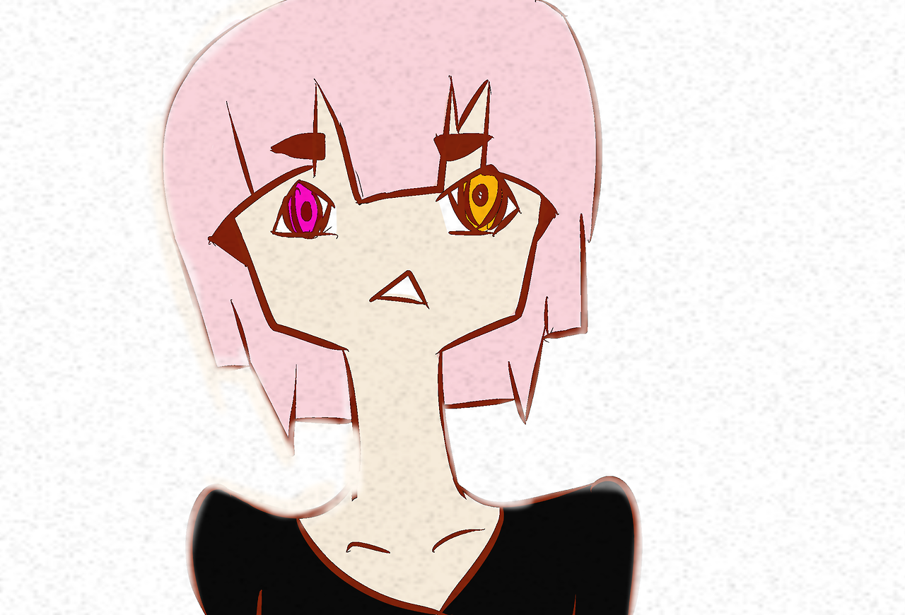 Pink haired girl
