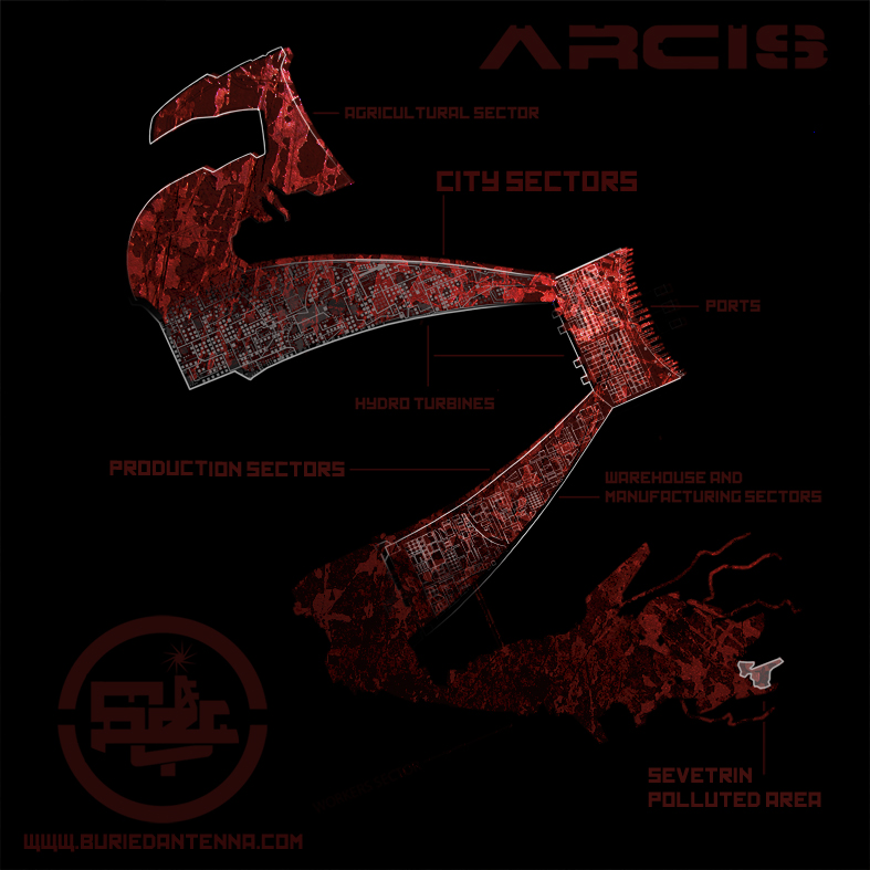 Map of ARCIS