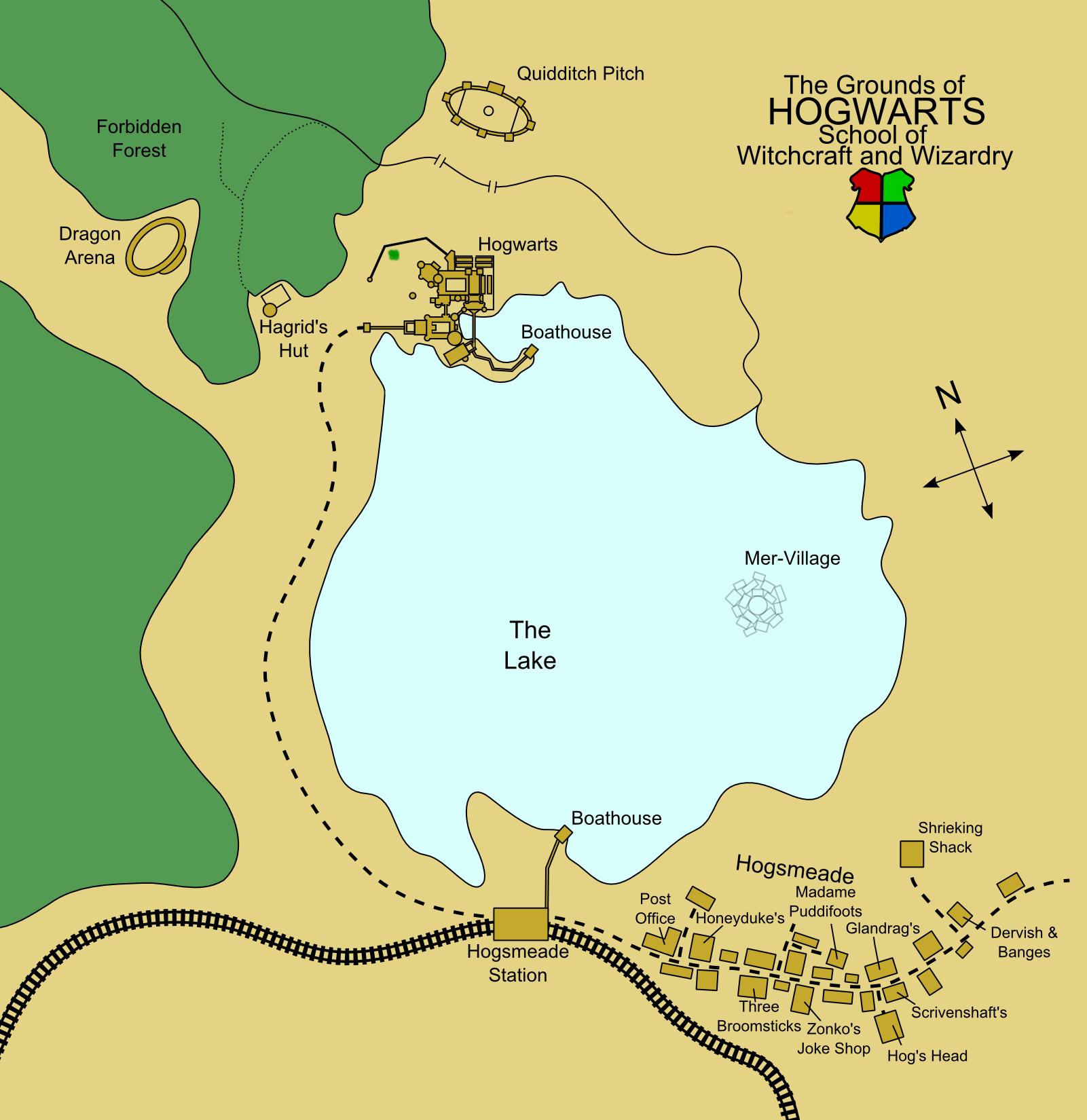 Hogwarts Area Map