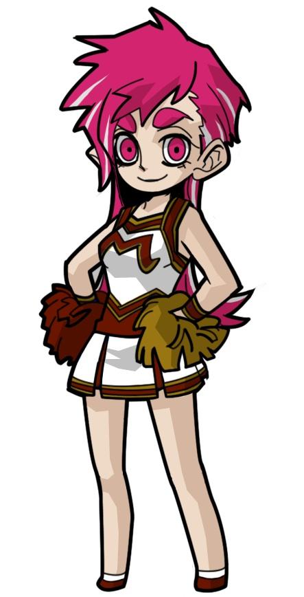 a cheerleader