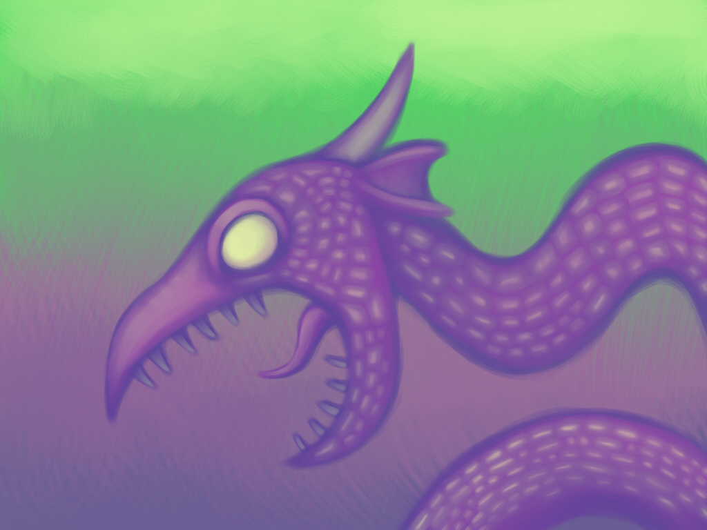 sea serpent painting