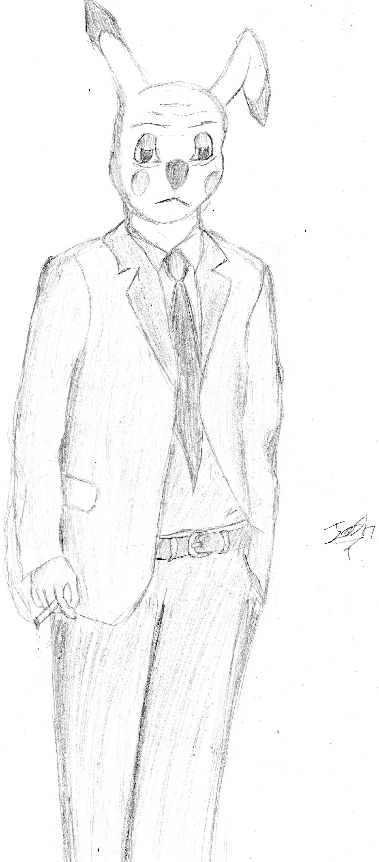 Pikachu in a suit.
