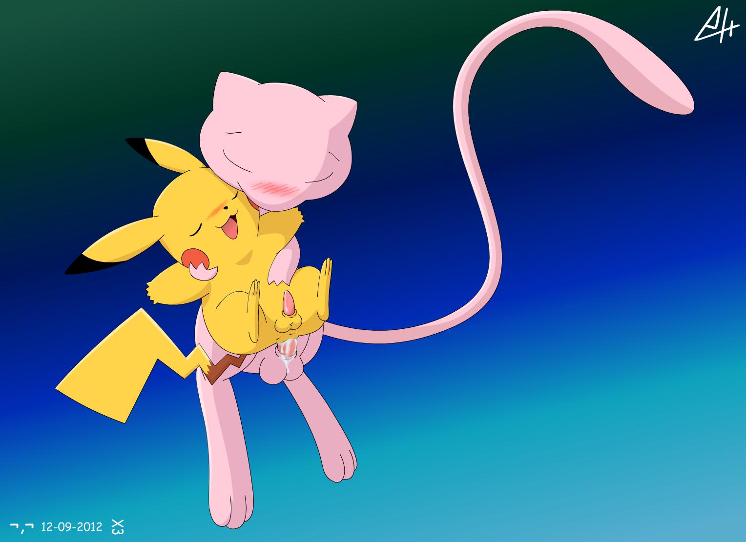Mew y Pikachu by SiberianCrystAlx on Newgrounds