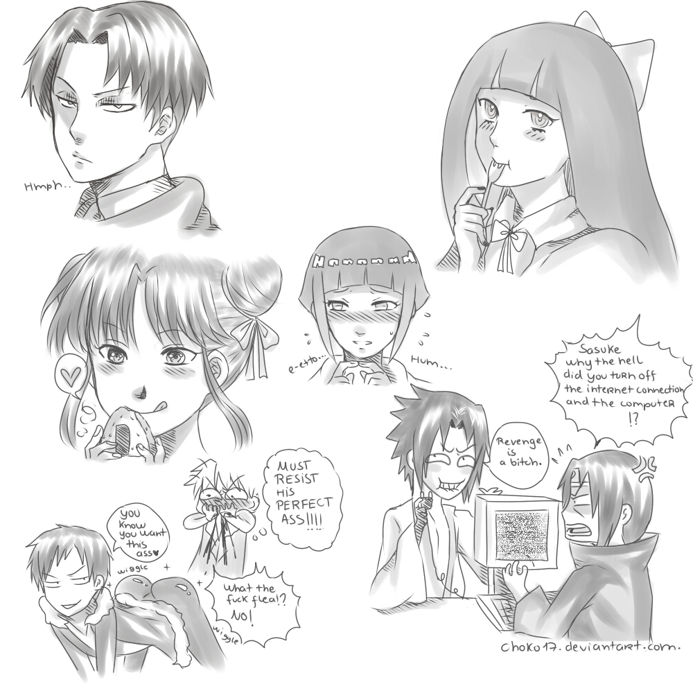 Silly anime doodles