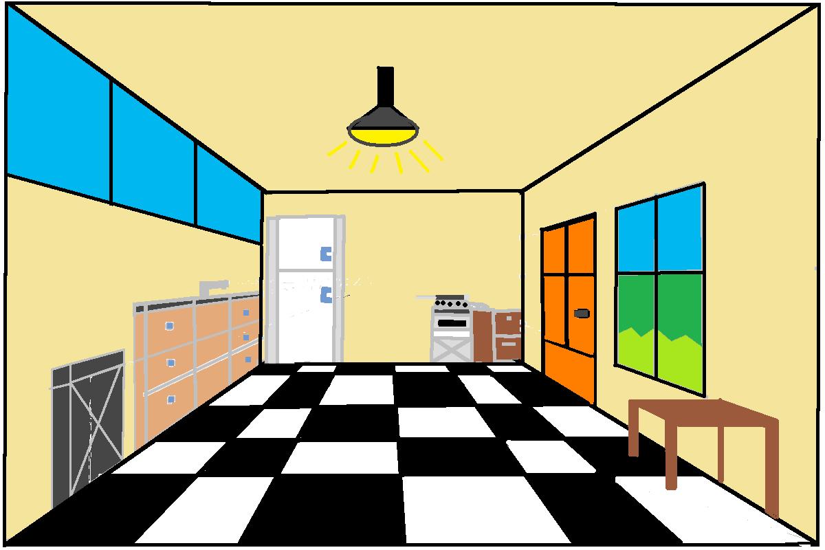 Kitchen 1 pt Perspective
