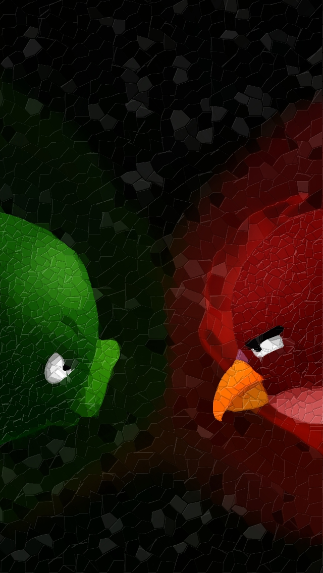 Angry Birds wallpaper - faces