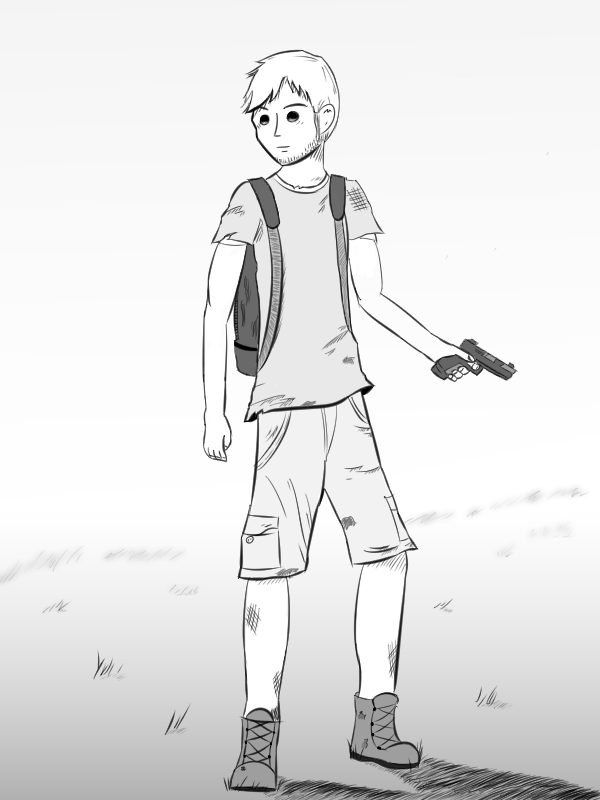 Phil in a Field (concept art)