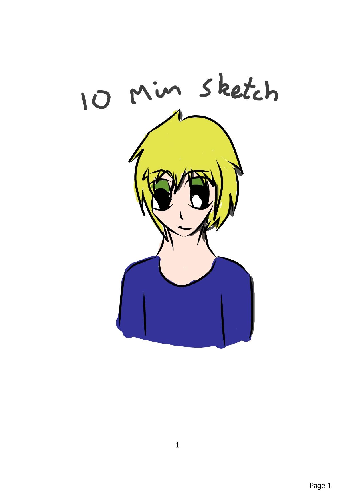 Manga boy sketch