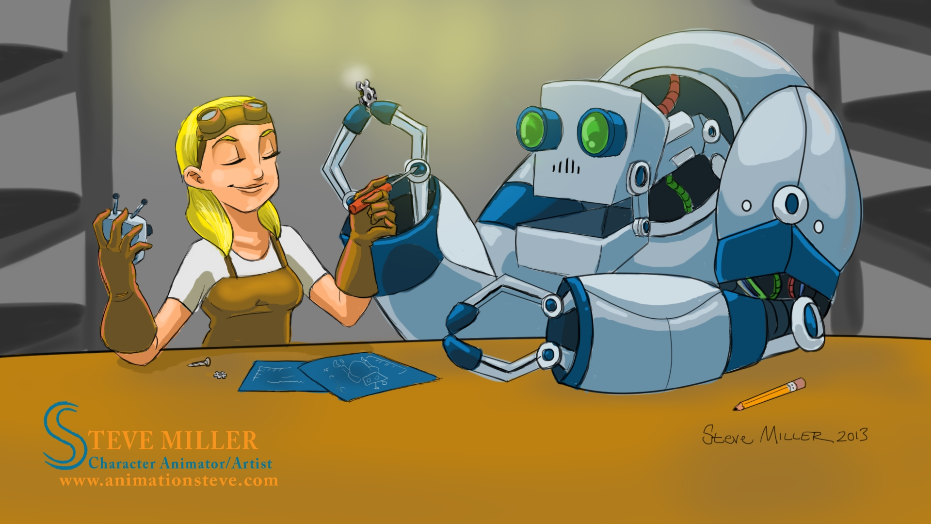 Girl and Her Robot