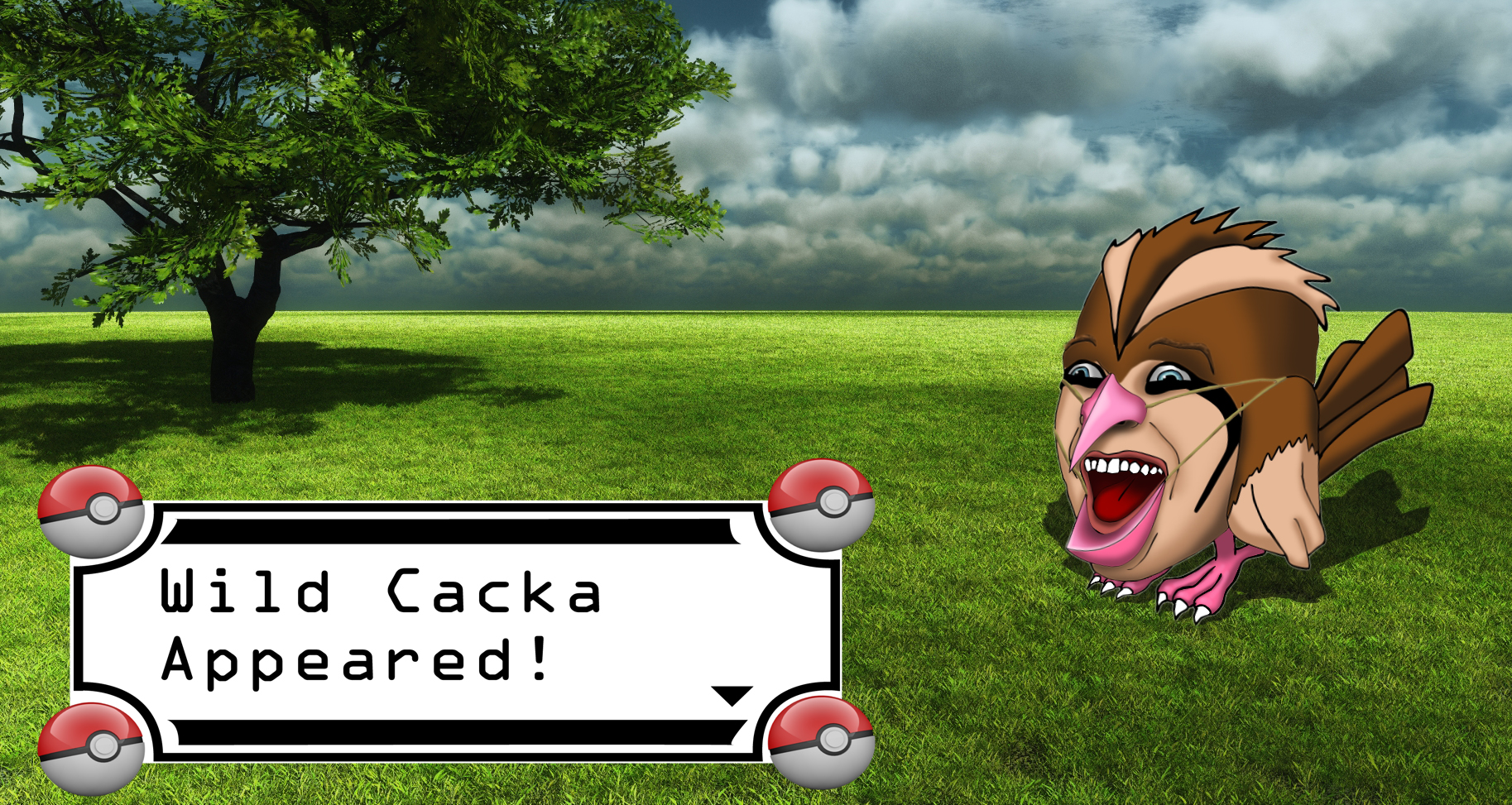 A Wild Cacka Appeared