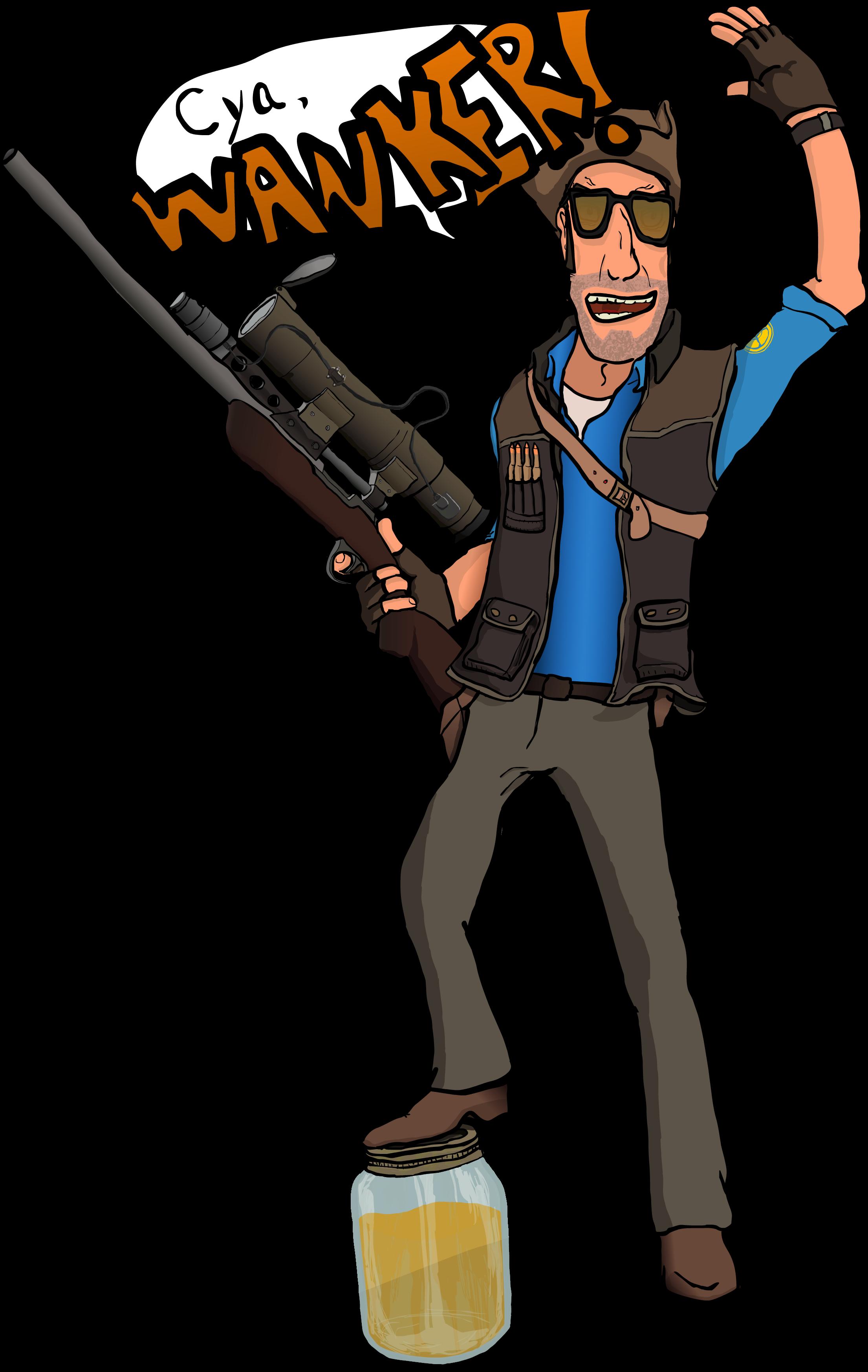 Blu Sniper Has a Few Words