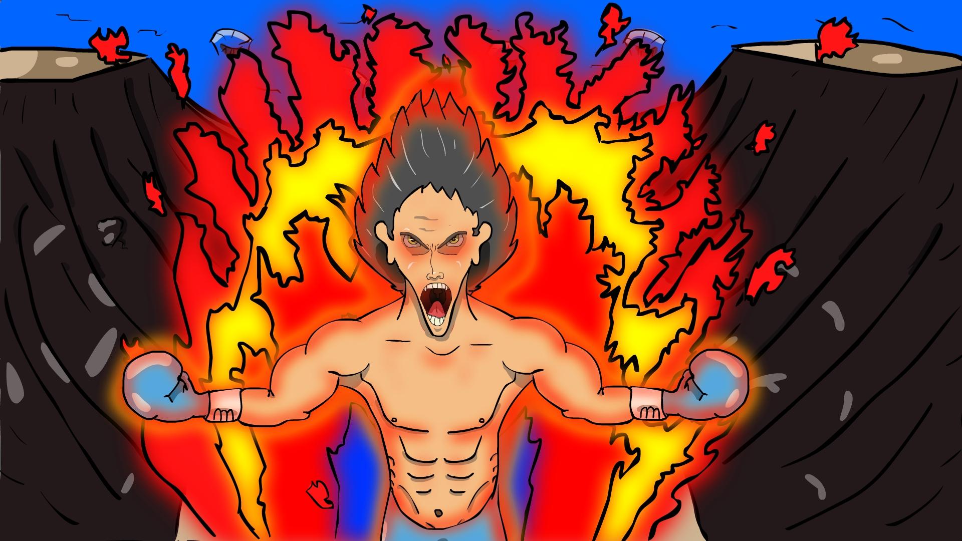 Flaming Boxer