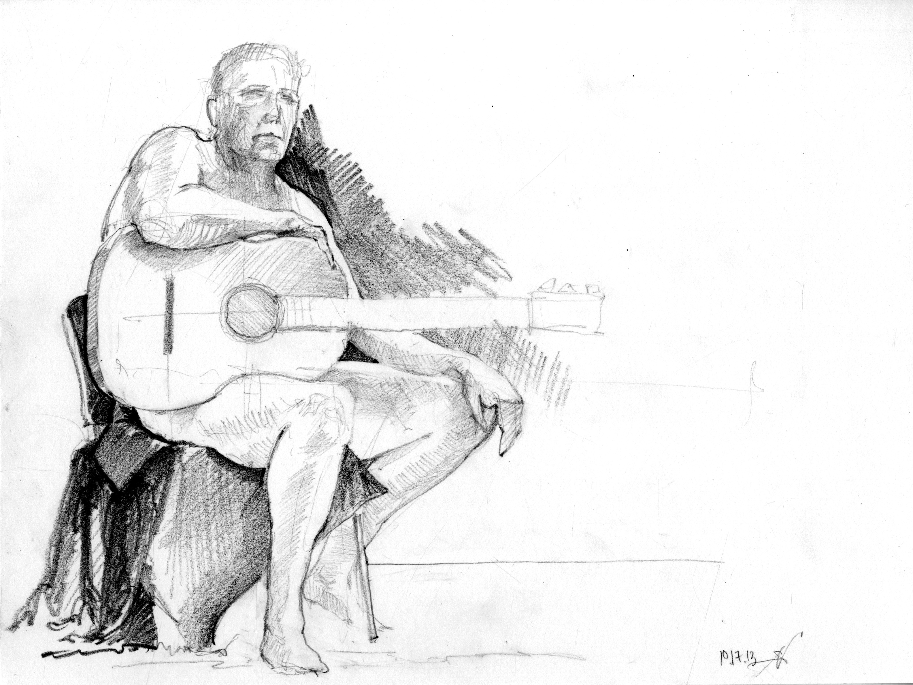 Figure Drawing - Guitar