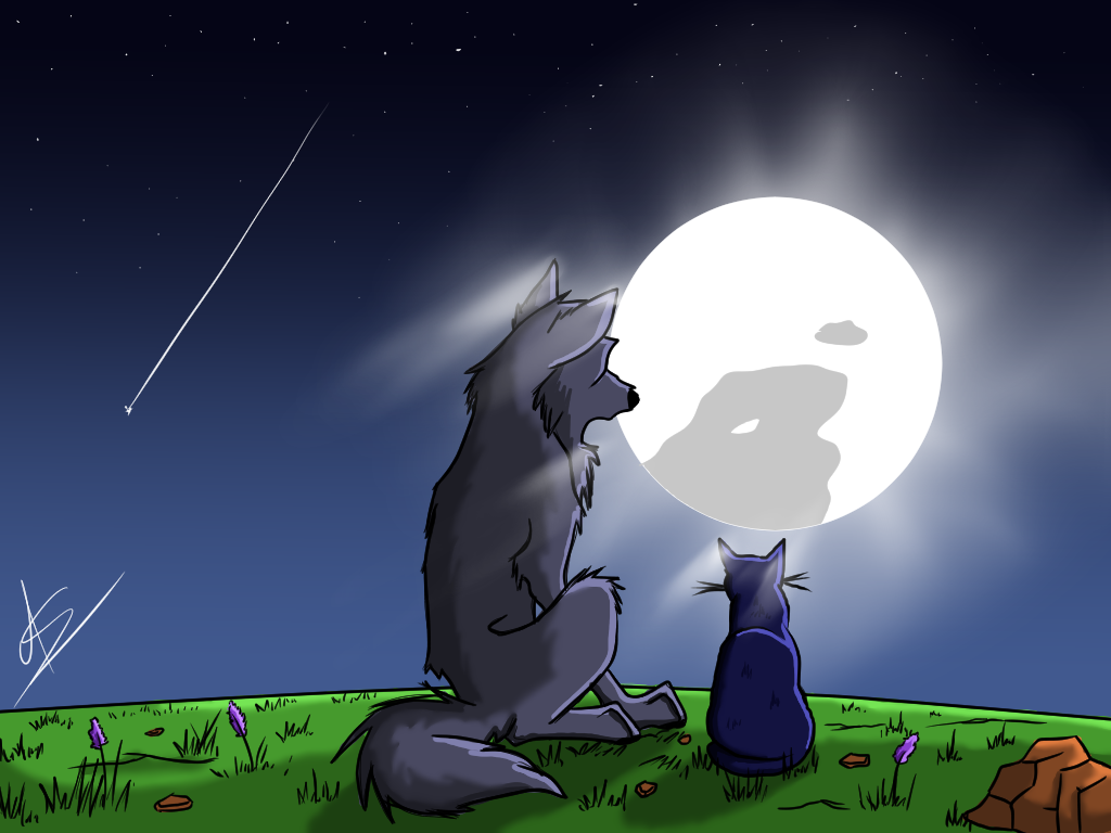 Friendship under the moonlight