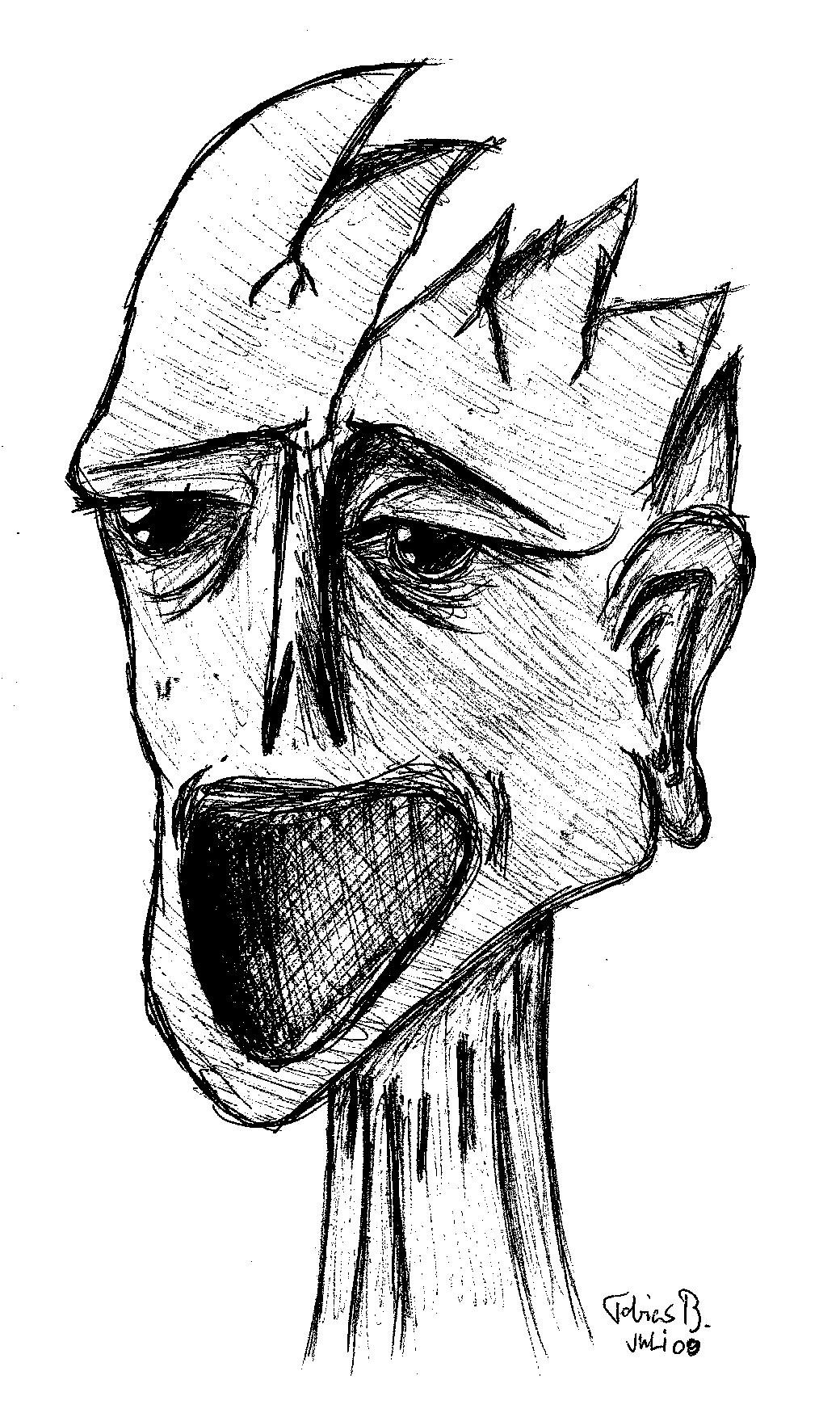 A broken human being
